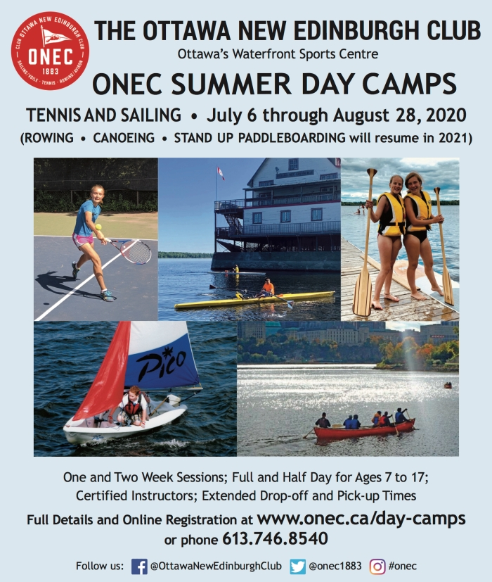 ONEC DAY CAMPS AD JULY 2020 OTTAWA SPORTS 06-23-20