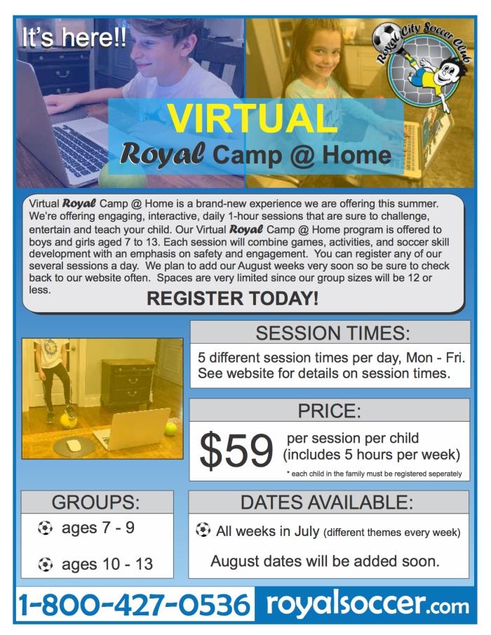 RCSC virtual camp brochure